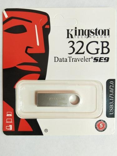 Imagen 1 de 1 de Pendrive Kingston 32gb Se9 Data Metalizado