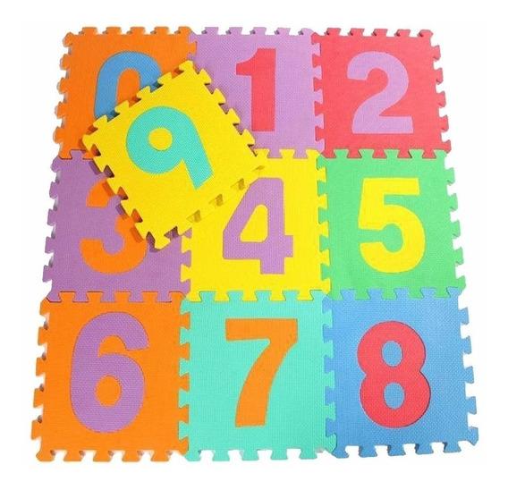 Piso De Goma Con Numeros Encastrables 10 Planchas De 33x33cm