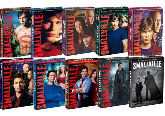 Boxes Dvd Smallville - As 10 Temporadas! Novos E Lacrados!