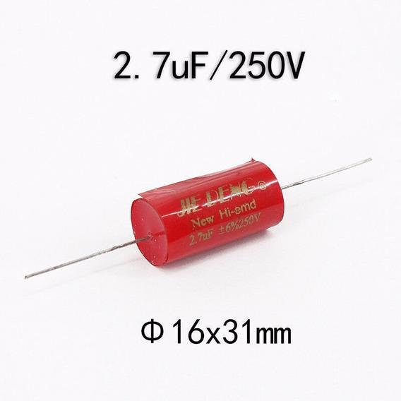Capacitor Polipropileno Cbb 2,7µf 250 V 16x31mm