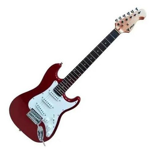 Kit Guitarra Criança Infantil Phx Ist1 3/4 Vermelha Strato