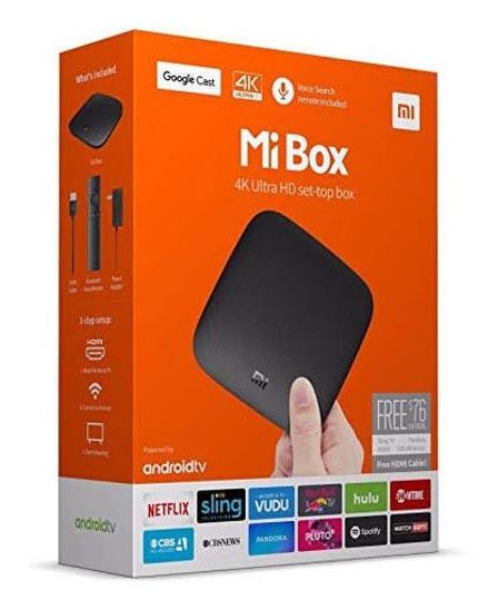 Mi Box S Xiaomi Ultra Hd 4k Hdmi/usb/wifi Bivolt Preto
