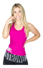 Blusa Fitness Feminina Furadinha Academia Malhar Escrita