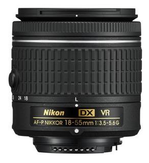Lente Nikon Af-p 18-55 Dx Vr F 3.5-5.6 Sacado De Caja