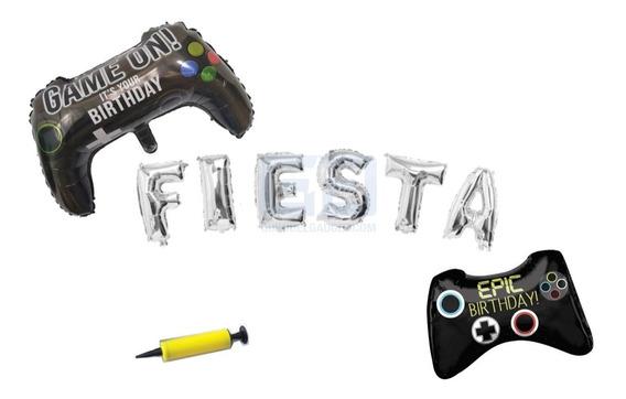 Pack Globo Metálico Fiesta Gamer Epica 3pack