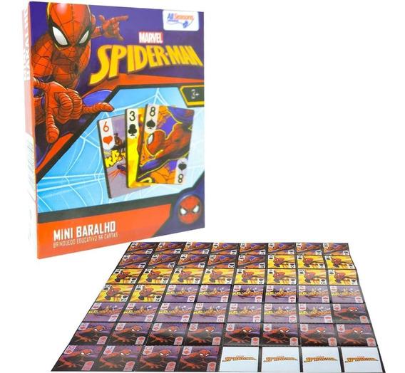 Jogo Mini Baralho Homem Aranha Cartonado Destaque E Brinque