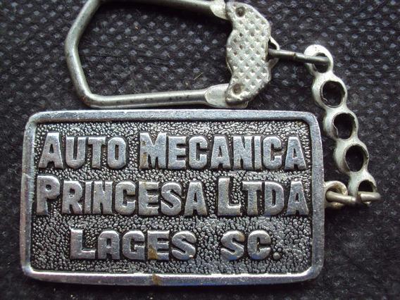 Chaveiro Antigo - Auto Mecânica Princesa - Lages - Sc - X3