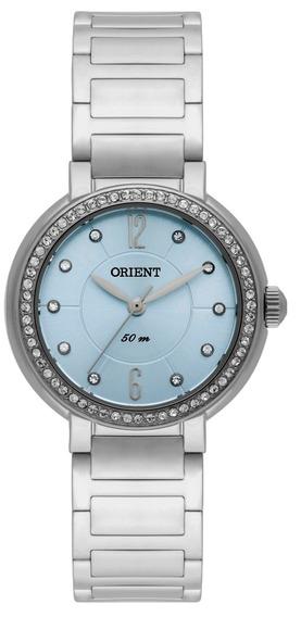 Relógio Orient Original De Fábrica, Prateado Fbss0047 A2sx