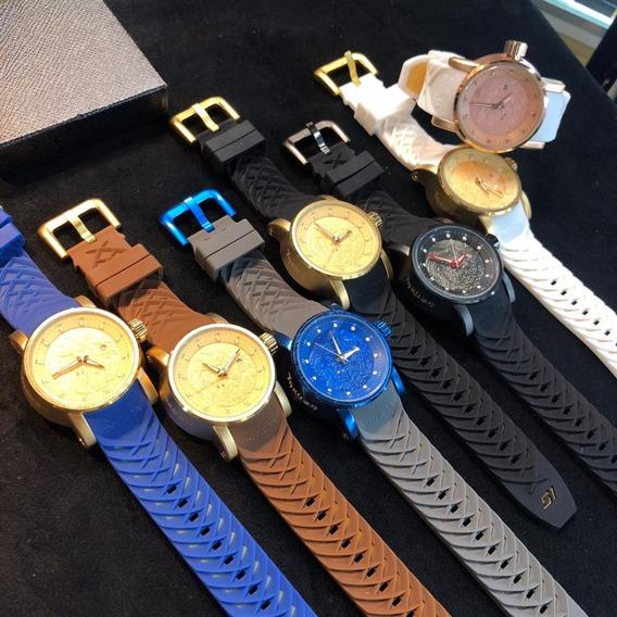Relógio Masculino Dourado Luxuoso Robusto Frete Grátis