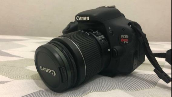 Camera Canon T3i Com Lente 18-55mm E Bolsa De Brinde