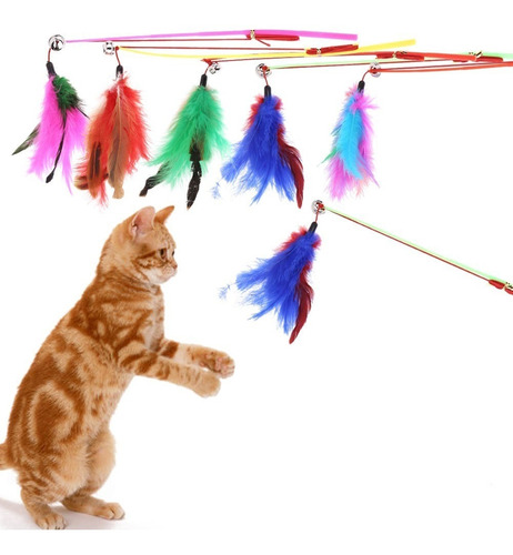 Juguete Divertido Para Gatos - Plumilla Tipo Caña Pesca