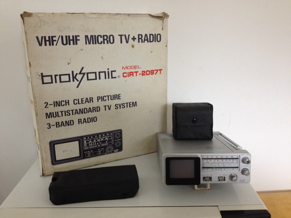 Micro Tv/rádio Am/fm Broksonic Cirt-2097t Semi Novo Portátil