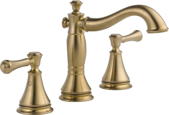 Llave Mezcladora Lavabo Delta Faucet 3597 Color Champagne
