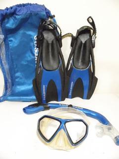 Juego Aletas U.s Divers Visor Snorkel 1-3usa 19-22cm J257