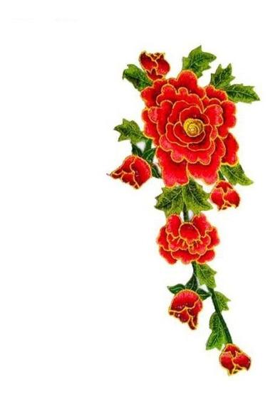 Aplique Patch Termocolante Flores E Rosas Para Aplicação