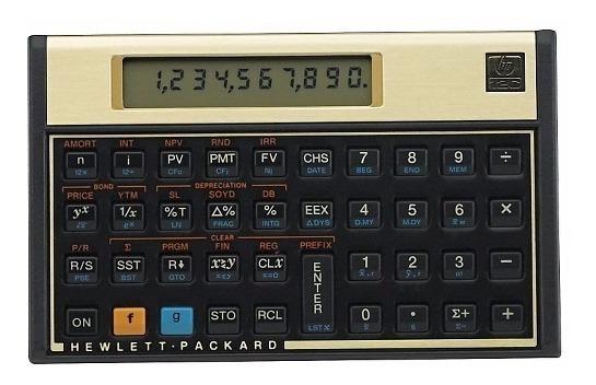 01 Calculadora Financeira Hp 12c Gold Preço Especial
