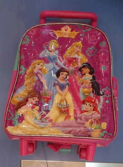 Mochila Colegial Con Carro Nena Princesas 50236 - Children