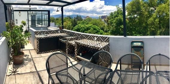 Penthouse En Renta, 2 Hab 2 Bañ 2 Est Roof Privado, Solario