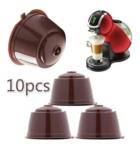 Imagen 1 de 6 de 10 Cápsulas De Café Reutilizables Taza Filtro Para Nescafe D