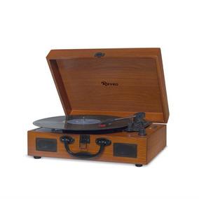 Toca Discos Sonetto Gravação Bluetooth Madeira Wood