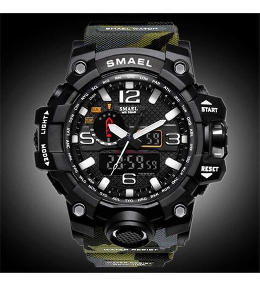 Relógio Masculino Militar / Esportivo / Digital / Smael 1545