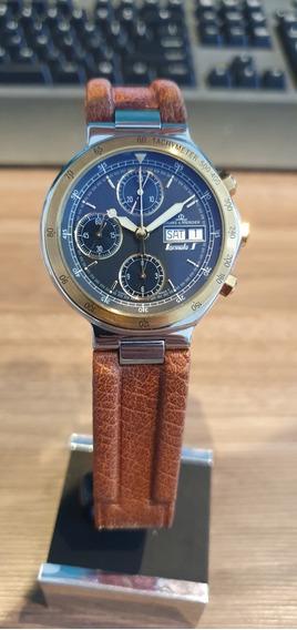 Relógio Suíço Chronógrafo Automatico Baume Et Mercier Couro