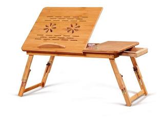 Mesa Base Enfriadora De Bambu Para Laptop 54cm 2ventiladores