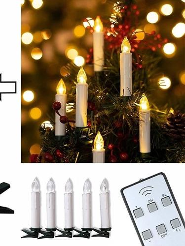 10 Vela Led Calida Control Remoto Pilas Luz Secuenciador