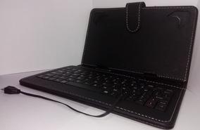 Capa Case Tablet 7 C Teclado Padrão V8 Pequeno Defeito