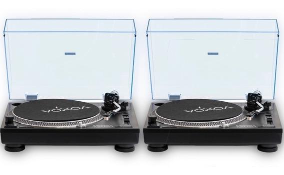 Par De Toca Disco Voxoa T60 + Mixer Epsilon Inno-mix