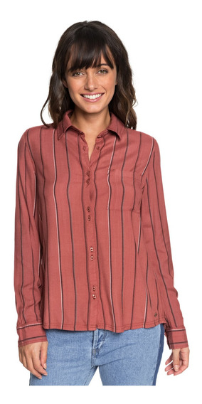 Roxy Camisa Concrete Streets Stripe (mmg4)