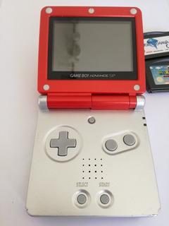 Gameboy Advance Sp Mario Edition + 2 Juegos