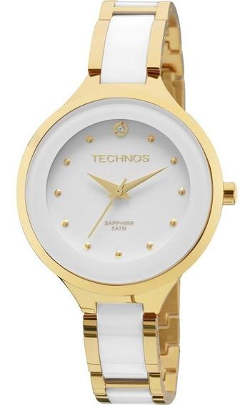Relógio Technos Dourado Feminino Cerâmica 2035lyw/4b Nfe