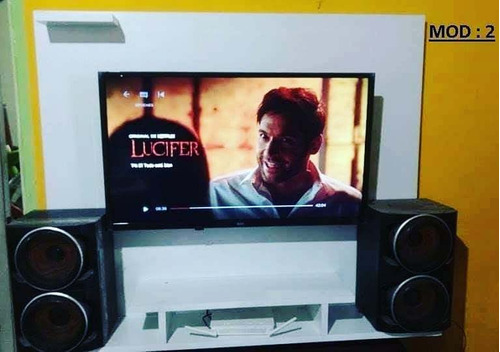 Panel Rack Flotante Para Tv Lcd Led Smart Combo Soporte Fijo