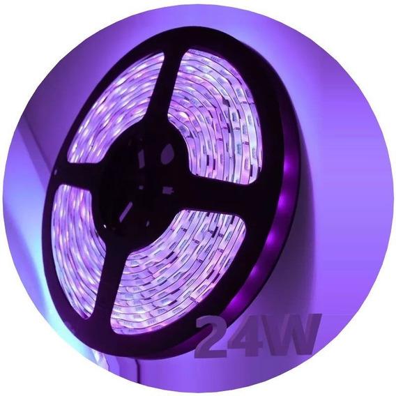 Tira Led 5050 Rollo 5 Metros Ultravioleta Uv 24v Exterior