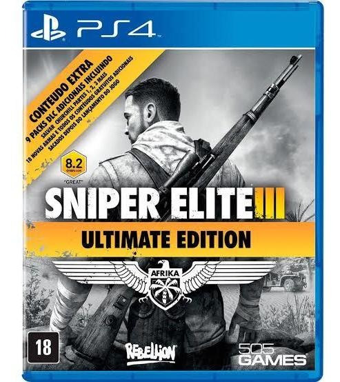 Sniper Elite 3 Ps4 Mídia Física