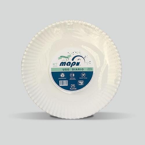 Plato De Cartón Redondo N°7 Mapi® Biodegradable Pl-eco-33