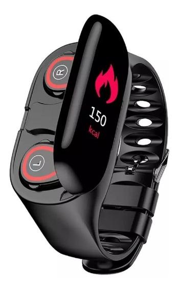 Fralugio Smart Watch Banda Deportiva Audifonos Bluetooth Tws