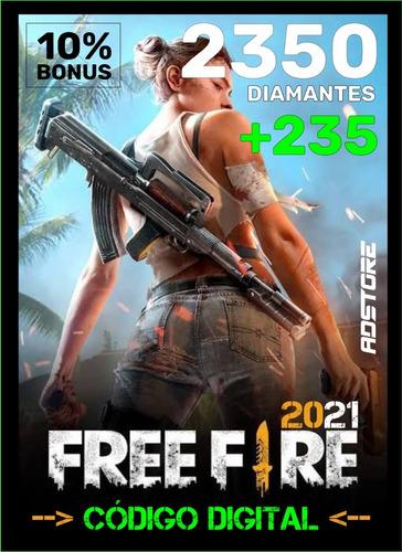 Imagem 1 de 9 de Free Fire 2350 Diamantes + 235 Bônus (2585) Recarga P/ Conta