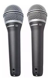 Kit 2 Microfone Samson Q7 + Maleta + Cachimbo + Nf!