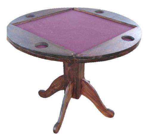 Imagen 1 de 6 de Mueble Rústico Mesa De Juegos Cartas
