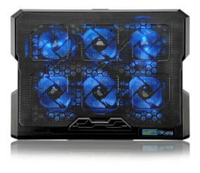 Base Cooler Pad Lcd Screen 6 Cooler Led Velocidade Ajustável