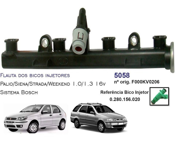 Flauta Do Bico Injetor Fiat Palio Fire 16 Válvulas Dsc5058