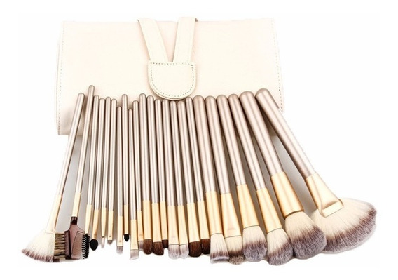 Kit Com 24 Pincel Maquiagem Profissional Pronta Entrega