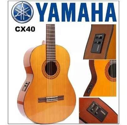 Imagen 1 de 3 de Guitarra Yamaha C-40 Electroacustica Inc Iva Estuche Gratis