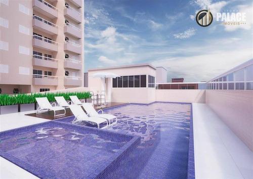 Apartamento Com 3 Dormitórios À Venda, 88 M² Por R$ 335.000,00 - Vila Assunção - Praia Grande/sp - Ap1122