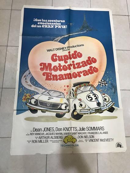 Afiche Cine-cupido Motorizado Enamorado-w Disney-enviogratis