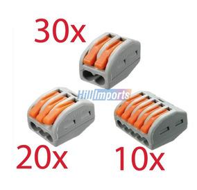 Conector Tipo Wago Emenda 2 3 5 Fios 60 Unidades