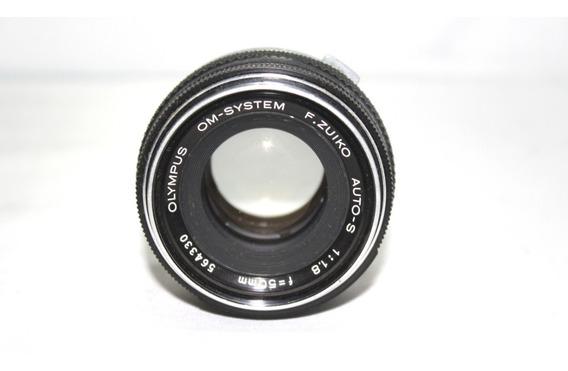 Lente Olympus 50mm 1.8 Retro Coleção Retirada De Peça