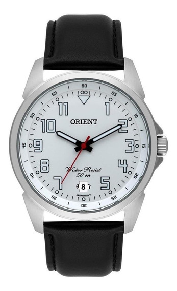 Relógio Orient Pulseira De Couro Analógico Mbsc1031 S2px